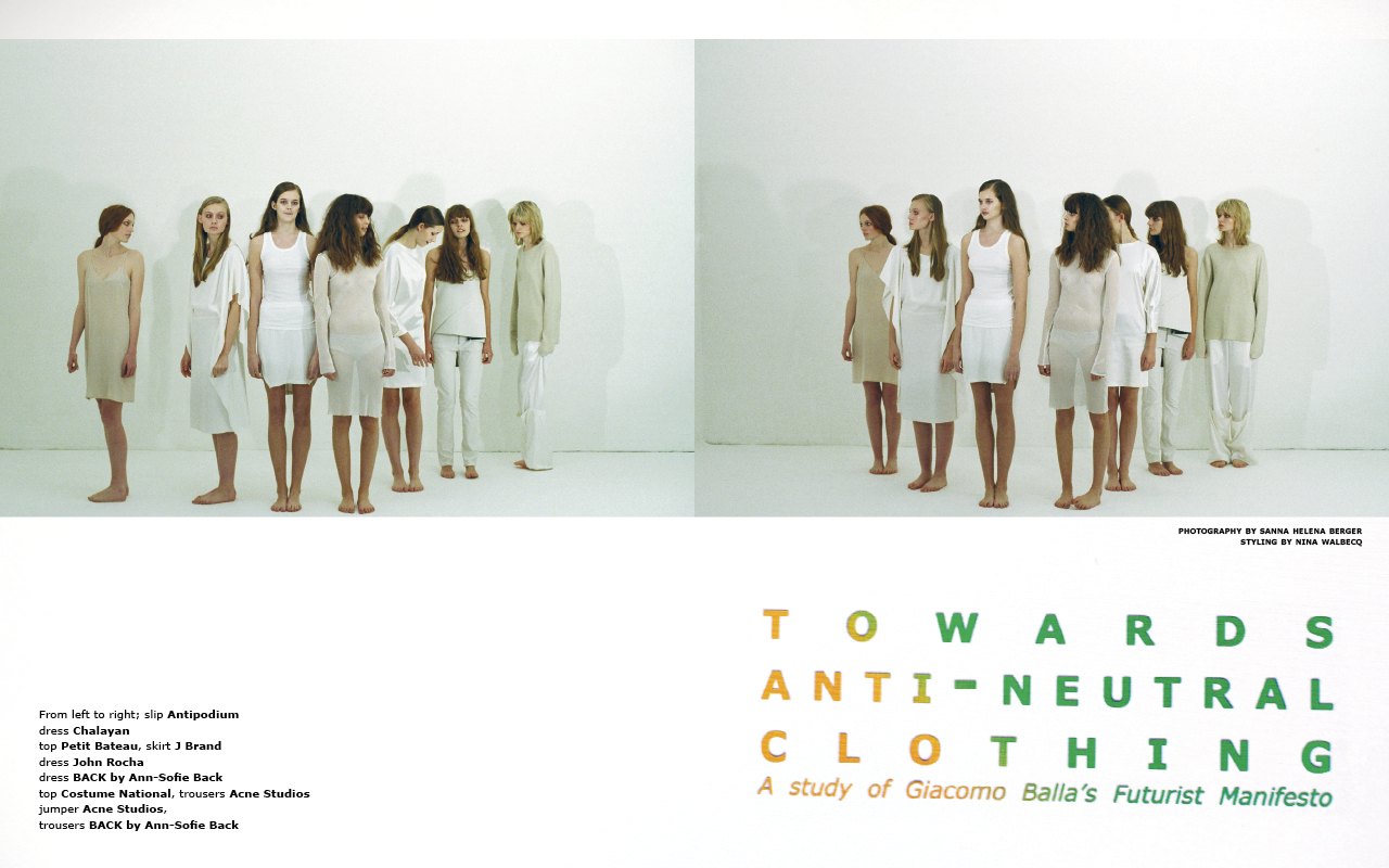 Towards Anti-Neutral Clothing